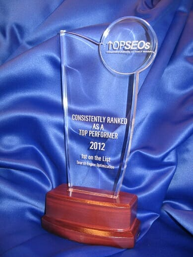 Top SEOs 2013 Award for Search Engine Optimization