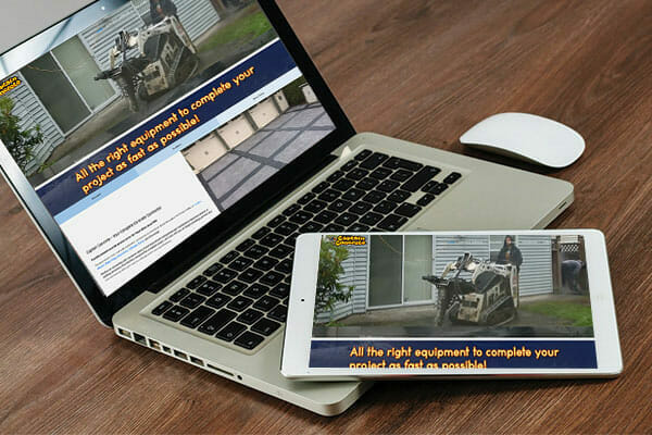 captain concrete displayed on laptop and tablet screen