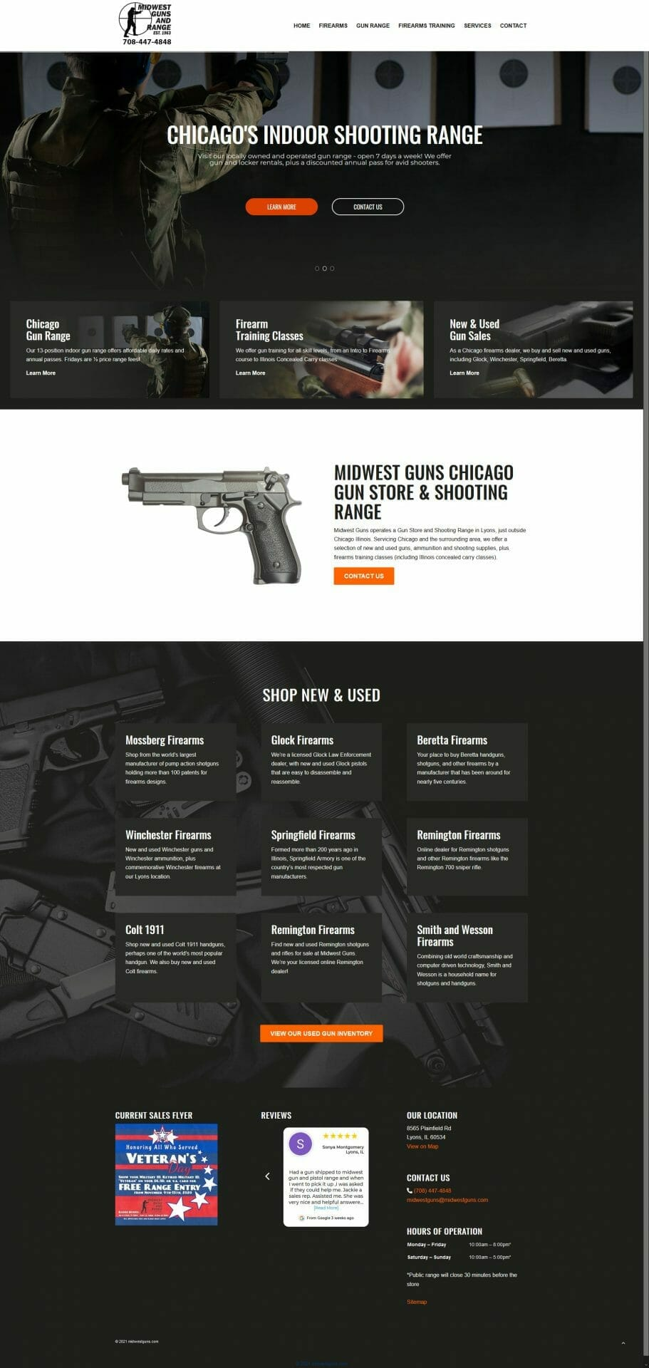 Images & text for Midwest Guns Chicago gun store and shooting range