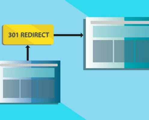 Graphic to illustrate a 301 redirect