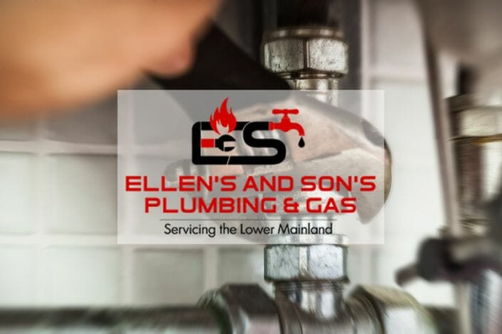 Ellen's and Son's Plumbing & Gas featured image showing a person with a wrench working on a pipe fitting.