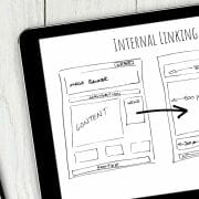 drawing showing internal linking from one webpage to another