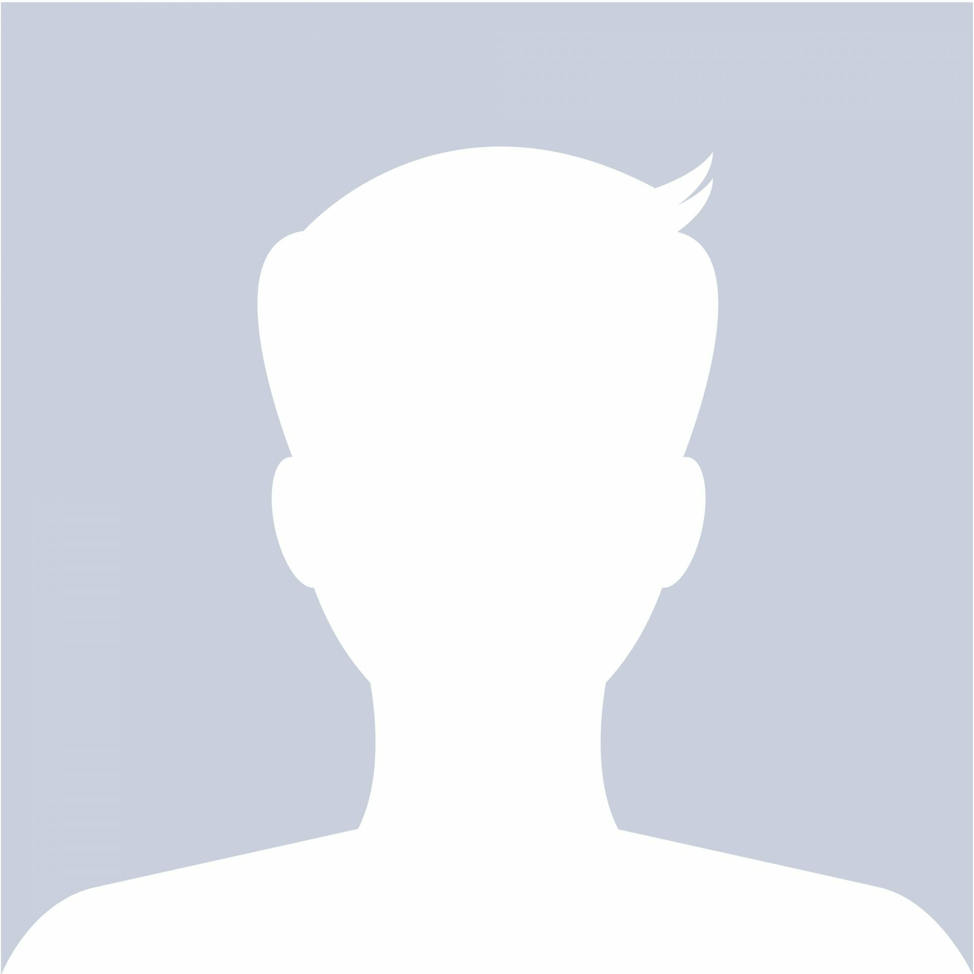 Silhouette of a man's head and shoulders