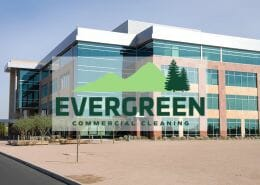 Evergreen Building Maintenance featured image of commercial building.