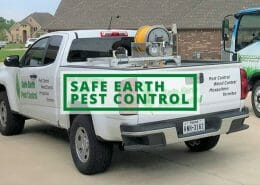 Safe Earth Pest Control featured image showing company pickup truck.