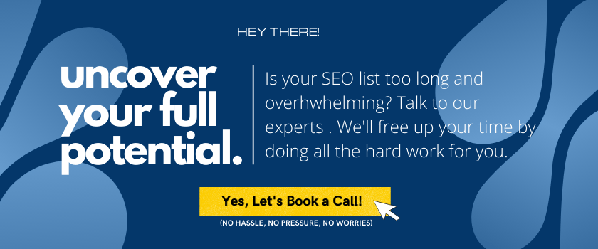 uncover your full potential with seo - call to book a call to talk with our experts